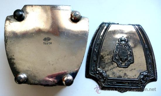 Antigüedades: CAJA JOYERO EN PELTRE PLATEADO - WALLACE BROSS - SILVER CO - FAMOSO JOYERO AMERICANO - S. XIX - Foto 5 - 26400167