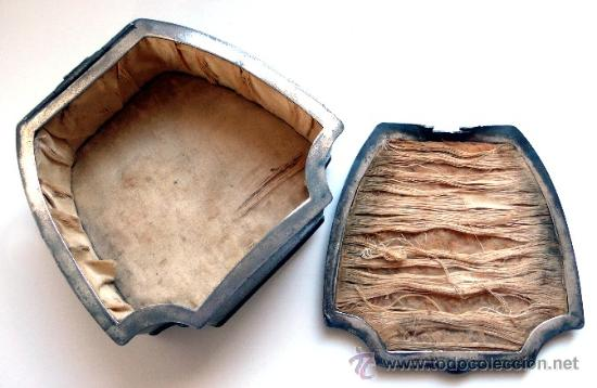Antigüedades: CAJA JOYERO EN PELTRE PLATEADO - WALLACE BROSS - SILVER CO - FAMOSO JOYERO AMERICANO - S. XIX - Foto 6 - 26400167
