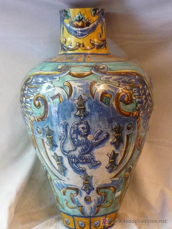 JARRÓN DE TRIANA (Antigüedades - Porcelanas y Cerámicas - Triana)