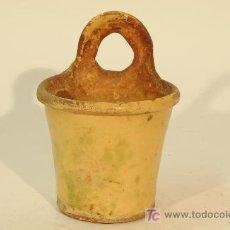 Antigüedades: CUCHARERO EN CERAMICA. SIGLO XIX. Lote 24204179