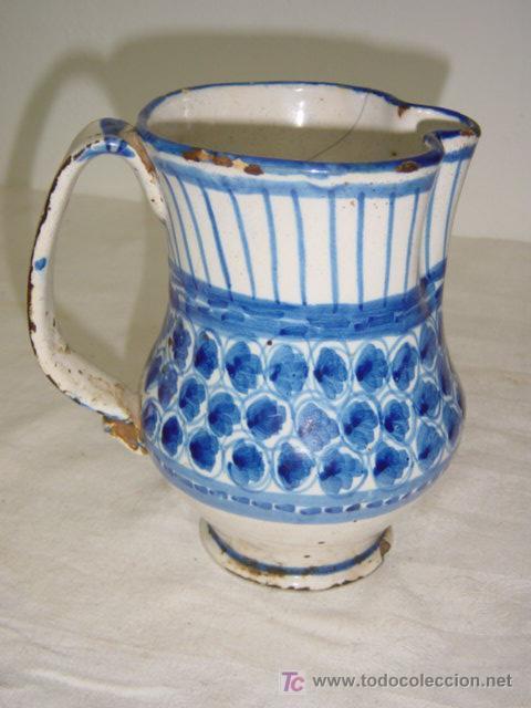 JARRA DE MANISES SIGLO XIX AZUL (Antigüedades - Porcelanas y Cerámicas - Manises)