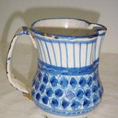 Antigüedades: JARRA DE MANISES SIGLO XIX AZUL. Lote 27485499