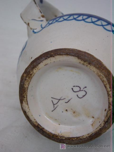Antigüedades: JARRA DE MANISES SIGLO XIX AZUL Y AMARILLO FIRMADA ARENAS - Foto 5 - 27135613