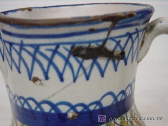 Antigüedades: JARRA DE MANISES SIGLO XIX AZUL Y AMARILLO FIRMADA ARENAS - Foto 3 - 27135613