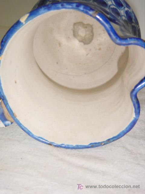 Antigüedades: JARRA DE MANISES SIGLO XIX AZUL - Foto 6 - 27485499