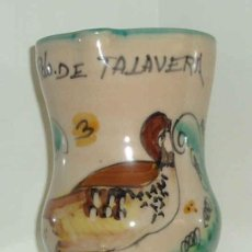 Antigüedades: JARRA CERÁMICA TALAVERA. MOTIVO PERDIZ. ALTURA 14,5 CM. Lote 23348416