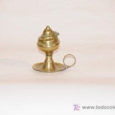 Antigüedades: CANDIL EN METAL AMARILLO. Lote 12242870
