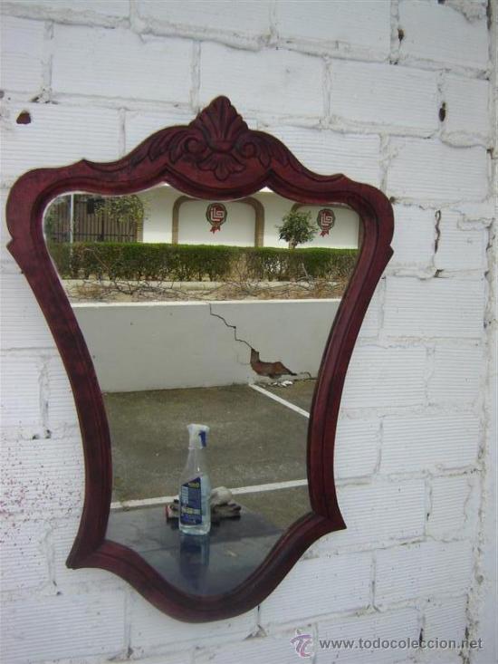 ESPEJO COLOR CAOBA (Antigüedades - Muebles Antiguos - Espejos Antiguos)