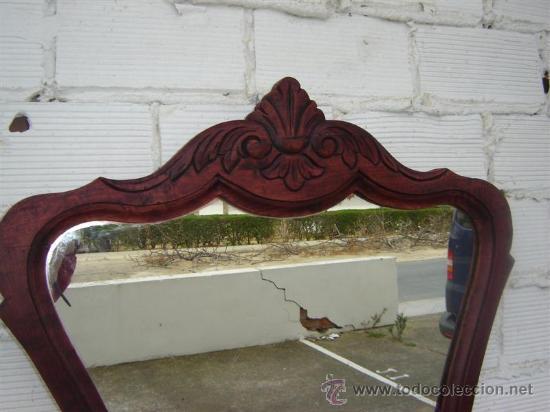 Antigüedades: espejo color caoba - Foto 2 - 12212659