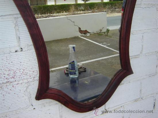 Antigüedades: espejo color caoba - Foto 3 - 12212659
