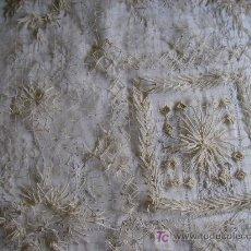 Oggetti Antichi: ANTIGUO CUBRECAMAS DE HILO DE ALGODON. Lote 26889280