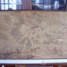 Antigüedades: TAPIZ ESCENA ROMÁNTICA. Lote 23334212