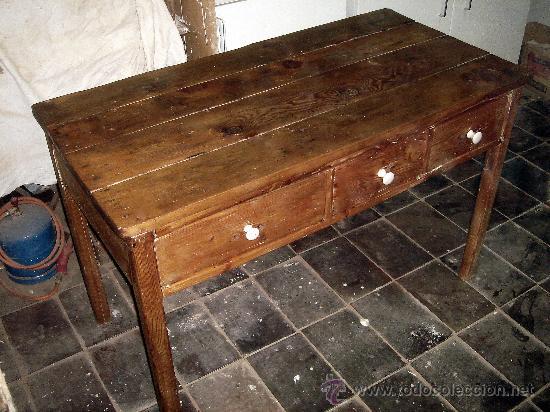 Antigua mesa tocinera restaurada preciosa comprar - Mesas antiguas ...