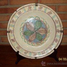 Antigüedades: ANTIGUO PLATO DE CERAMICA DE RIBESALBES CASTELLON SIGLO XIX. Lote 26529656