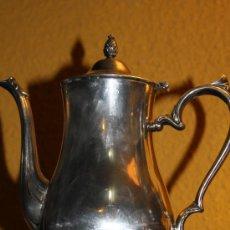 Antigüedades: CAFETERA DE 1900 BAÑADA EN PLATA REF.3126. Lote 12284447