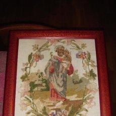 Antigüedades: PRECIOSO.S. JOSÉ. MUY ANTIGUO.BORDADO.CARA Y MANOS DE FIELTRO.VER FOTOS.. Lote 27082010
