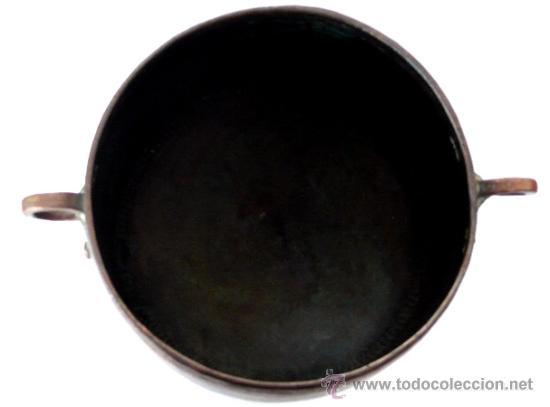Antigüedades: IMPECABLE CALDERA DE COBRE MARTILLADO - S. XIX - Foto 4 - 26421539