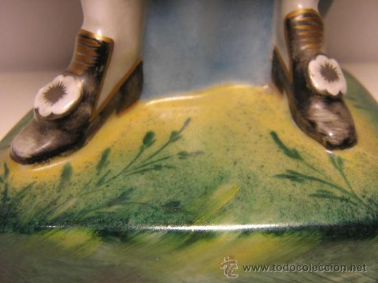 Antigüedades: ANTIGUA FIGURA DE PORCELANA ALEMANA SELLADA Y NUMERADA LW - Foto 5 - 111334140
