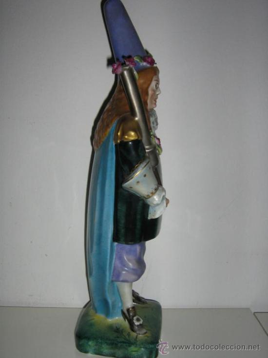 Antigüedades: ANTIGUA FIGURA DE PORCELANA ALEMANA SELLADA Y NUMERADA LW - Foto 7 - 111334140