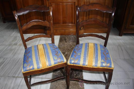 PAREJA SILLAS ISABELINAS REF.4329 (Antigüedades - Muebles Antiguos - Sillas Antiguas)