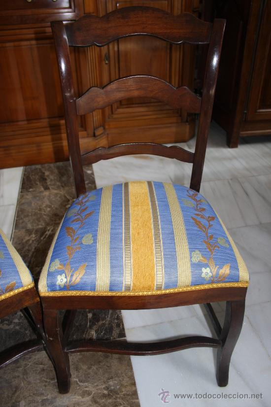 Antigüedades: PAREJA SILLAS ISABELINAS REF.4329 - Foto 2 - 27063004