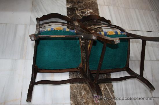 Antigüedades: PAREJA SILLAS ISABELINAS REF.4329 - Foto 4 - 27063004