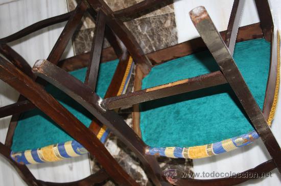 Antigüedades: PAREJA SILLAS ISABELINAS REF.4329 - Foto 5 - 27063004