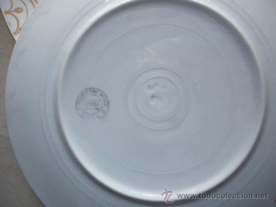 Antigüedades: tres antiguos platos de san juan de aznalfarache de 24 cm. de diametro - Foto 5 - 27107862