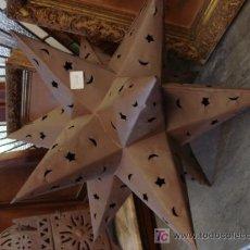 Antigüedades: FAROL DE CHAPA DE HIERRO. Lote 25160499