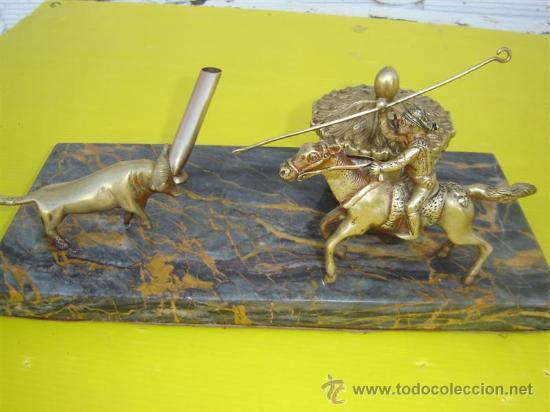 Antigüedades: tintero en bronce y marmol - Foto 4 - 12428999