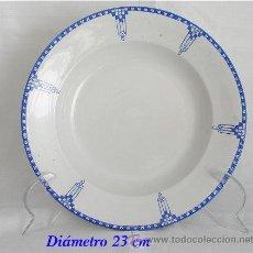 Antigüedades: PLATO ANTIGUO DE SAN JUAN ART DECO. Lote 26266558