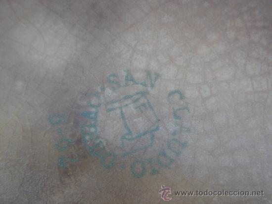Antigüedades: ANTIGUA SALSERA DE SAN CLAUDIO, OVIEDO. SELLO EN BASE. - Foto 4 - 26269742
