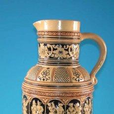 Antigüedades: JARRA DE CERÁMICA. HISTORICISTA, NEO-RENACENTISTA 1880. ESCENAS DE BAILE. 27 CM.. Lote 23038424