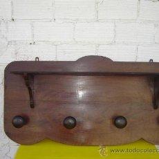 Antigüedades: PERCHRO RUSTICO ANTIGUO EN NOGAL. Lote 12456886
