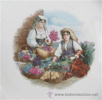 Antigüedades: PLATO ANTIGUO DE SAN JUAN DE AZANALFACHE FLORISTAS - Foto 2 - 25566686