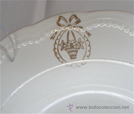 Antigüedades: PLATO ANTIGUO DE SAN JUAN DE AZANALFACHE FLORISTAS - Foto 4 - 25566686
