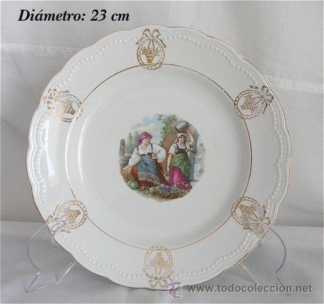 PLATO ANTIGUO DE SAN JUAN DE AZANALFACHE AGUADORA Y FRUTERA (Antigüedades - Porcelanas y Cerámicas - San Juan de Aznalfarache)