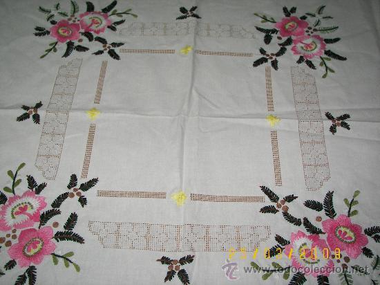 Mantel Bordado A Mano Y Con Vainicas Comprar Manteles Antiguos En - Manteles-para-bordar