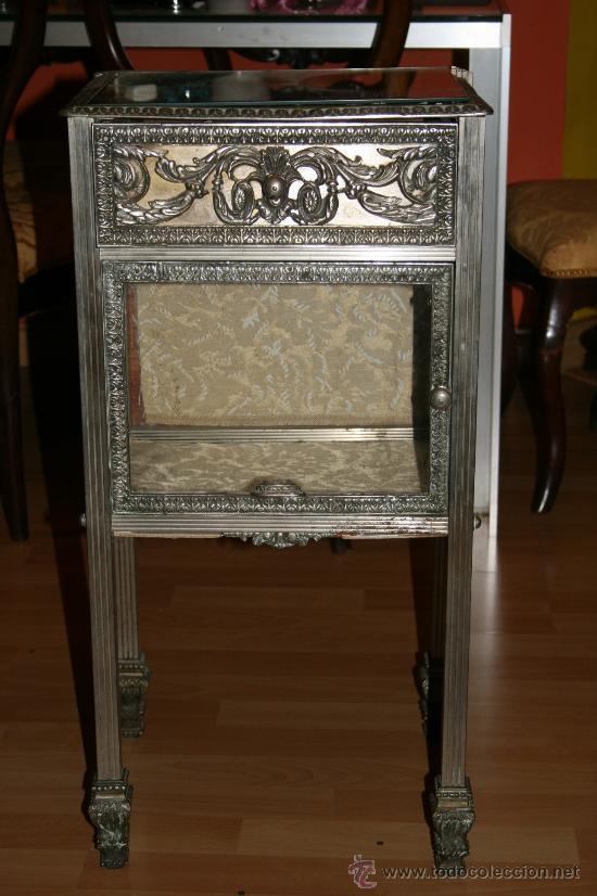 ANTIGUA MESA DE BRONCE ART DECO (Antigüedades - Muebles Antiguos - Mesas Antiguas)