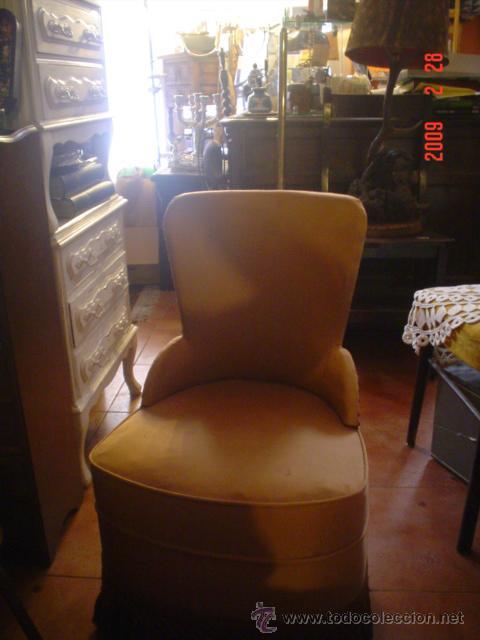 BUTACA DE COQUETA (Antigüedades - Muebles Antiguos - Sillones Antiguos)