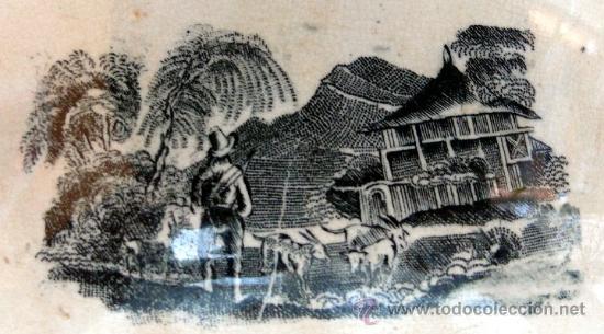 Antigüedades: CARTAGENA - ENSALADERA GALLONADA - CAPTURA DE POTROS SALVAJES - S. XIX - Foto 9 - 27225811