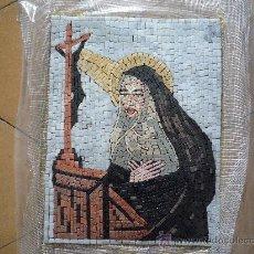 Antigüedades: UN HERMOSO MOSAICO RELIGIOSO DE MARMOL, HECHO A MANO.. Lote 12647867