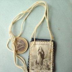 Antigüedades: ESCAPULARIO DE TELA -MARIA PURISIMA -VER FOTOS. Lote 26151320