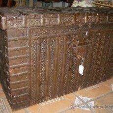 Antigüedades: IMPRESIONANTE ARCON HIERRO ANTIGUO ARCA, CAJA DE CAUDALES.. Lote 27420844