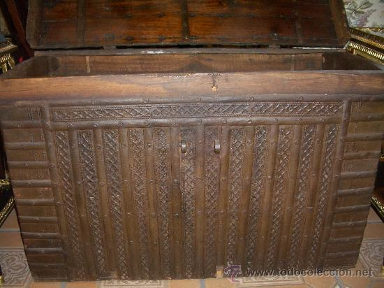 Antigüedades: IMPRESIONANTE ARCON HIERRO ANTIGUO ARCA, CAJA DE CAUDALES. - Foto 3 - 27420844