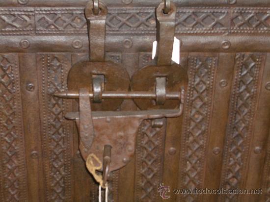 Antigüedades: IMPRESIONANTE ARCON HIERRO ANTIGUO ARCA, CAJA DE CAUDALES. - Foto 7 - 27420844