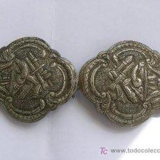 Antigüedades: HEBILLA DE CINTURON DE GALA EN PLATA . BALCANES.SIGLO XIX.. Lote 14512544