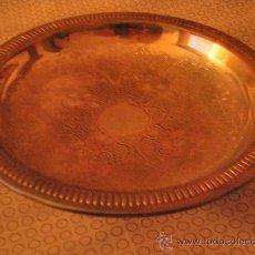 Antigüedades: YD 645 - BANDEJA CINCELADA CON ROLEOS VEGETALES 20 X 6 CMS BANDEJA CINCELADA CON MOTIVOS. Lote 26968454