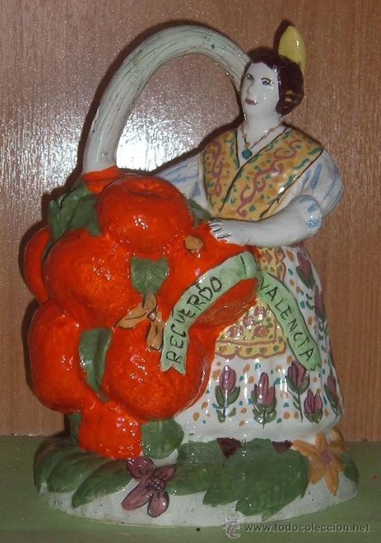 PRECIOSO BOTIJO TÍPICO VALENCIANO. MANISES. (Antigüedades - Porcelanas y Cerámicas - Manises)
