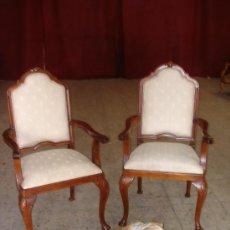Antigüedades: SILLONES DE CAOBA MACIZA. Lote 25063651